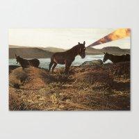pony Canvas Prints featuring PONY by KELLY SCHIRMANN