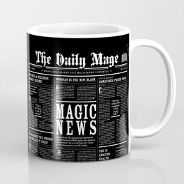 The Daily Mage Fantasy Newspaper II Coffee Mug