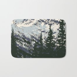 Glacier National Park Bath Mat