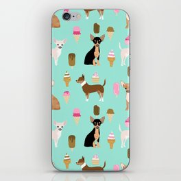 chihuahua ice cream dog lover pet gifts cute pure breed chihuahuas coat colors iPhone Skin