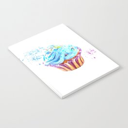 Cupcake watercolor illustration Notebook