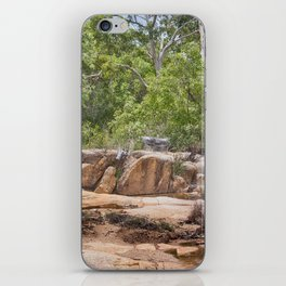 Peace among the rocky surrounds. iPhone Skin