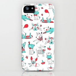 One dog and his friends iPhone Case