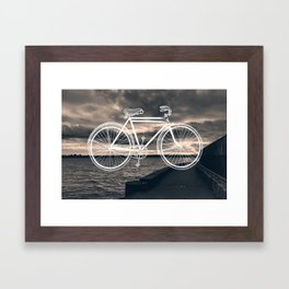 Seawall Ride Framed Art Print