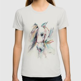 Fantasy white horse T-shirt