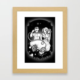 Party at the Phaedrus 5 Galleria - Illustration Framed Art Print