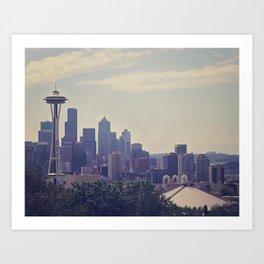 Seattle Skyline Art Print