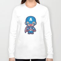 captain Long Sleeve T-shirts featuring Captain by Papyroo