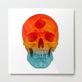 3rd Eye Contact (Orange and Blue) Metal Print