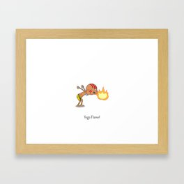 Yoga Flame! Framed Art Print