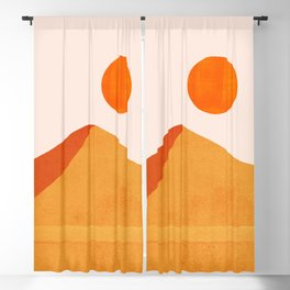 Abstraction_Mountains_SUN_Minimalism_01 Blackout Curtain