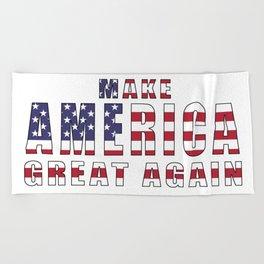 Make America Great Again Beach Towel