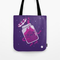 space jam Tote Bags featuring Space Jam by Philip Tseng