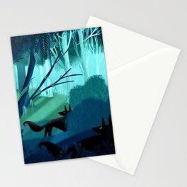 Shadow Wolves Stalk The Silver Wood Stationery Cards