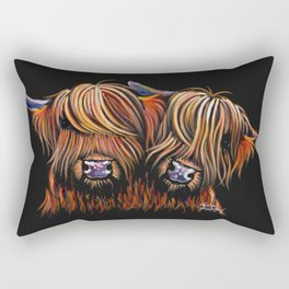 Scottish Highland Cows ' PALS ' by Shirley MacArthur Rectangular Pillow