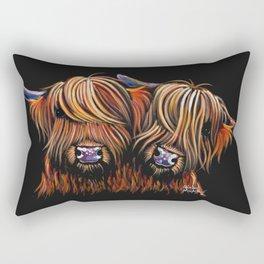 Scottish Highland Cows ' PALS ' by Shirley MacArthur Rectangular Pillow