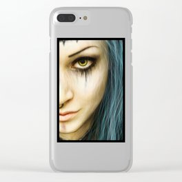 Unstoppable: A Vampiric Warrior Clear iPhone Case