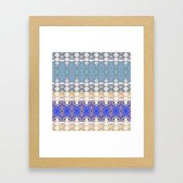 Sweet Lovely Intricate Boho Blues Lace Detail Framed Art Print