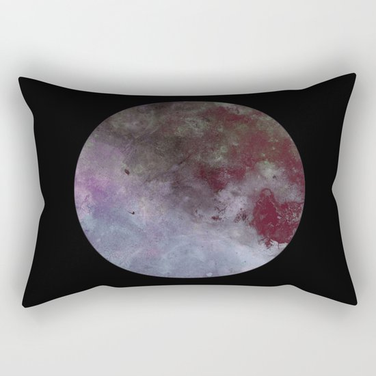Lonely planet - Space themed geometric painting Rectangular Pillow