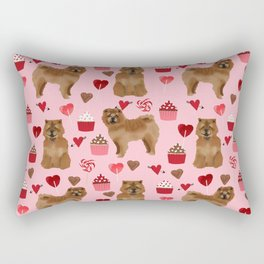 Chow Chow dog breed pure breed valentines day cupcakes love pet gifts must have doggo pupper lovers Rectangular Pillow