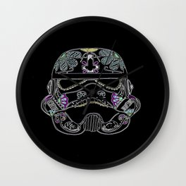 Day of the dead Storm Trooper head Wall Clock