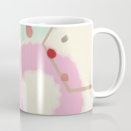 pink circle abstract dots dancing polka in rain Coffee Mug