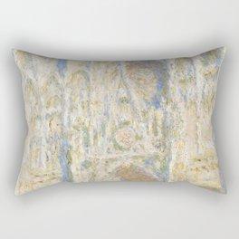 Rouen Cathedral, West Façade, Sunlight Rectangular Pillow