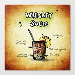 Whiskey Sour Canvas Print