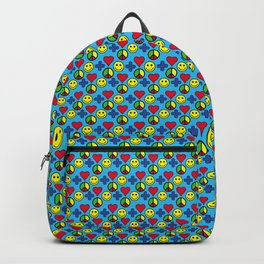 Positivity Peace Joy Happiness BLUE Backpack
