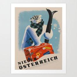 Vintage poster - Niederosterreich Art Print