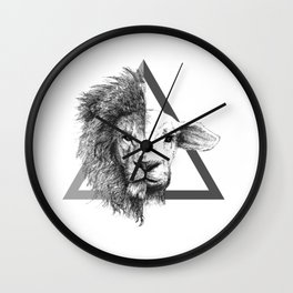 Lion and Lamb Wall Clock