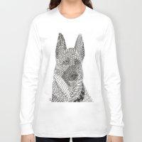 german shepherd Long Sleeve T-shirts featuring German Shepherd by DiAnne Ferrer
