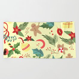 Christmas Pattern 4 Beach Towel