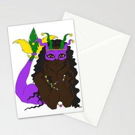 Mardi Gras Mermaid 3 Stationery Cards