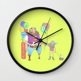 Kid pirate and huge pirate! Wall Clock