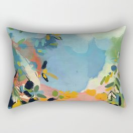 garden with sea view and olive tree Rectangular Pillow