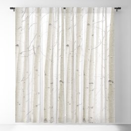 Aspens in Snow II Blackout Curtain