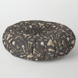 Northern forest (black) Floor Pillow