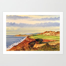 Pacific Dunes - On Bandon Dunes - Golf Course 13th Hole Art Print