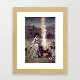 THE MAGIC CIRCLE - JOHN WILLIAM WATERHOUSE Framed Art Print
