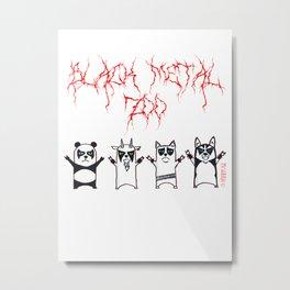 Black Metal Zoo Metal Print