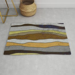 Nordic Layers - Abstract, Textured Art Rug