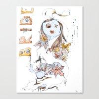 bride Canvas Prints featuring Bride by VicFreyd