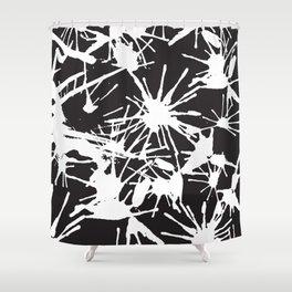 Ink Splatter 02 Shower Curtain