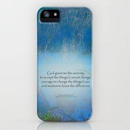 Serenity Prayer Blue Marsh iPhone Case