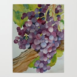 A Glass of Red wine Poster