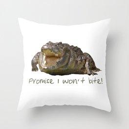 Crocodilian Throw Pillow