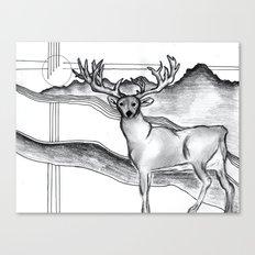 Blue Ridge Deer Canvas Print