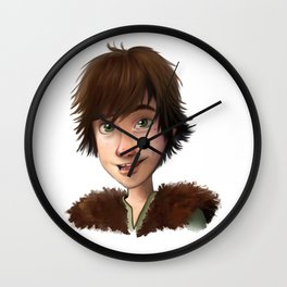 A little Hiccup goes a long way Wall Clock