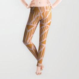 mala, african tribal pattern tangerine Leggings
